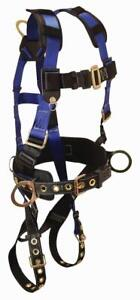 Falltech 70732x Full Body Harness 3 D ring And Tongue Buckle Leg Straps Xxl