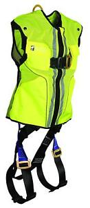 Falltech 7015lxl Vest Harness Non belted Fbh Reflective Vest Lime L xl