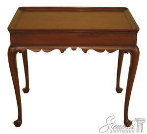 18982ec Kittinger Cw 8 Queen Anne Mahogany Tea Table