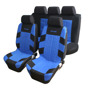 9pcs Car Seat Cover Black Automobile Cushion Universal Breathable Blue Red Gray