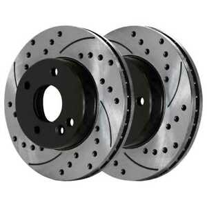 Front Drilled Slotted Brake Rotors Pair 2 For 02 04 05 2006 Mini Cooper 980153
