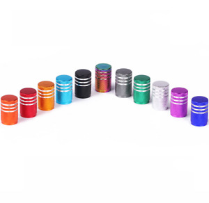 Many Color Anodized Aluminum Round Tire Valve Stem Caps 4pcs For Car