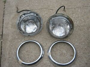 Pair Vintage F S B 48 General Electric Head Lights Fog Lights 1940 S 1950 S