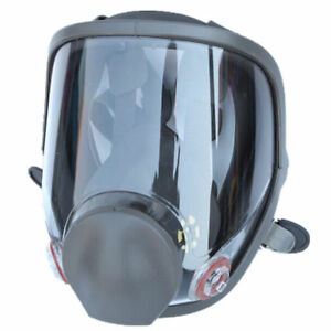 Us Full Face Large Gas Mask Dust Facepiece Respirator Painting Spraying For 6800