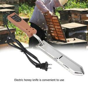 Stainless Steel Electric Scraping Honey Knife Beekeeping Uncapping Tool Us Plug