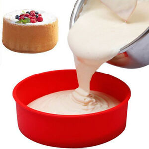 DIY Silicone Round Bread Mold Cake Pan Muffin Bakeware Mold Baking Tray Mould#