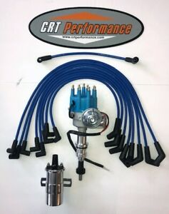 Sbf Ford 351w Windsor Small Cap Electronic Hei Distributor Upgrade Kit Blue