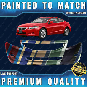 New Painted To Match Front Bumper Fascia For 2008 2010 Honda Accord Coupe 08 10
