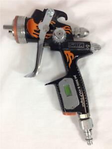Sata Jet 3000 Fire Edition Digital B Hvlp 1 3 Paint Spray Gun Orange Flames