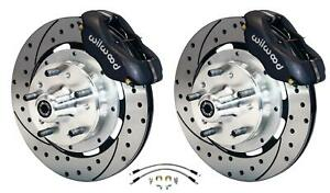 Wilwood 64 72 Chevelle A body Front Disc Big Brake Kit Drilled 13 W Flex Hoses