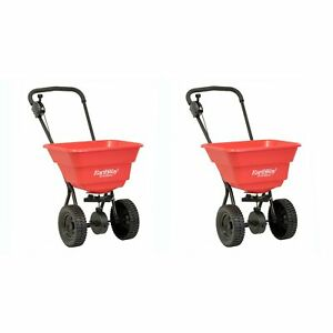 Earthway Plus Deluxe Estate Broadcast Seed And Lawn Fertilizer Spreader 2 Pack
