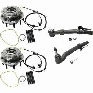 Wheel Hub Kit For 2005 2010 Ford F 250 Super Duty 4wd Single Rear Wheel 4pc