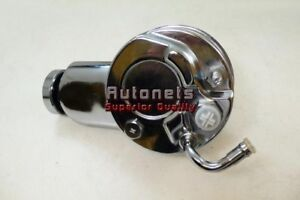 Cylindrical Chrome Gm Chevy Saginaw Power Steering Pump Street Hot Rod Keyway