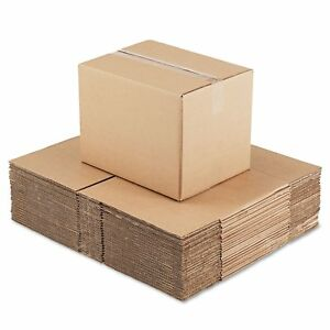 General Supply Brown Corrugated Fixed depth Shipping Boxes 16 inch Long X