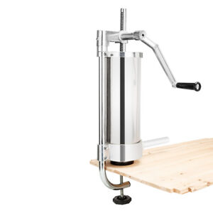3l Vertical Commercial Sausage Stuffer Maker 7lb Stainless Steel Meat Press