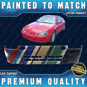 New Painted To Match Front Bumper Cover Fascia For 1993 1995 Honda Civic Del Sol