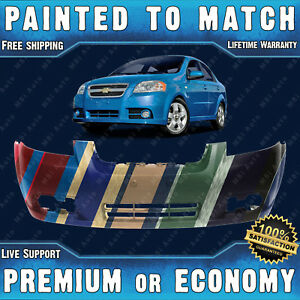 New Painted To Match Front Bumper Replacement For 2007 2011 Chevy Aveo Sedan 4dr