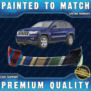 New Painted To Match Front Bumper Cover Fascia For 2011 2013 Jeep Grand Cherokee