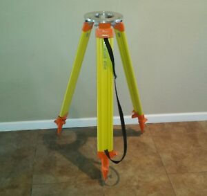 Leica Wild Gst 20 Heavy Duty Wooden Surveying Tripod With Extra Adapter Plate