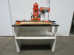 Blum Minipress M51 1002 Hinge Boring Machine W stand 230v 3ph