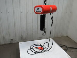 Cm Lodestar Model L 1 Ton 1hp Electric Chain Hoist 230 460v 3ph 19 Lift 16fpm