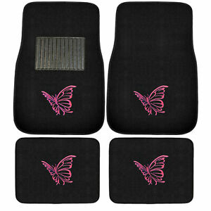 New 4pcs Set Ed Hardy Wild Tiger Car Truck Front Back Carpet Floor Mats
