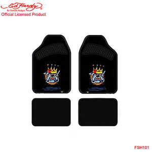 New Ed Hardy Christian Audigier Bulldog Front Rear Car Truck Carpet Floor Mats