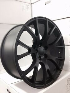 4 New Dodge Srt Hellcat 20 Matte Black Wheels Oe 20x9 20x10 Charger Challenger