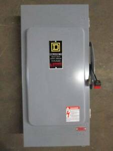 Square D H224awk 200a Safety Switch 240v Fusible 200 Amp 3r H224 awk