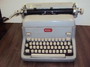 Refurbished 1957 Royal Fpe Desk Top Manual Typewriter 90 Days Guarantee
