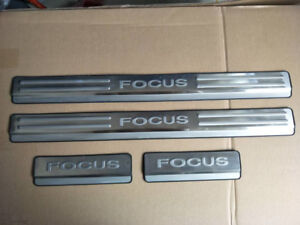 Door Sill Protector Car Stainless Steel Scuff Plate For Ford Focus 2009 2011