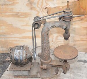 Early Drill Press The Burke Machine Tool Company Blacksmith Bench Top Forge Tool