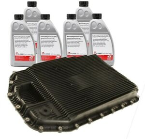 Six X Automatic Transmission Fluids And Oil Pan And Filter Kit For Bmw E90 E60