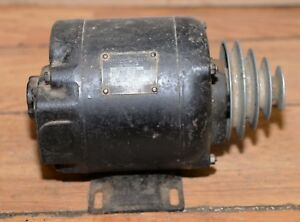 Antique Watch Makers Lathe Motor Emerson Electric 1 3 Hp 1725 Rpm With Pulley
