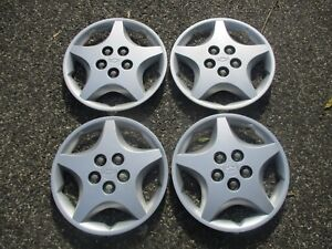 Genuine 2000 To 2005 Chevy Cavalier 14 Inch Bolt On Hubcaps Wheel Covers Set