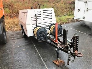 06 Sullivan Do185hq 185 Cfm Tow Behind Air Compressor Jd Diesel 938 Hrs