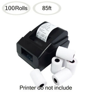 100 Rolls 2 1 4 X 85 Thermal Paper Credit Card Cash Register Pos Receipt Paper