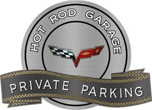 2005 2013 Corvette Sign Private Parking Hot Rod
