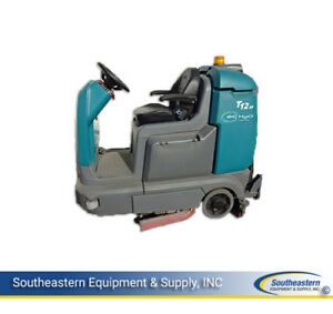 Demo Tennant T12xp Cylindrical Floor Scrubber With Ec h2o