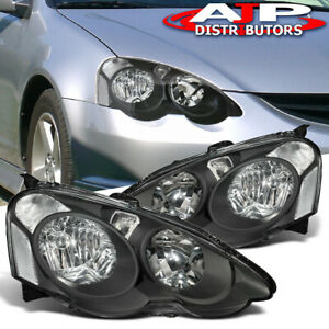 Jdm Replacement Black Clear Headlight Driving Lamps For 2002 2004 Acura Rsx Dc5