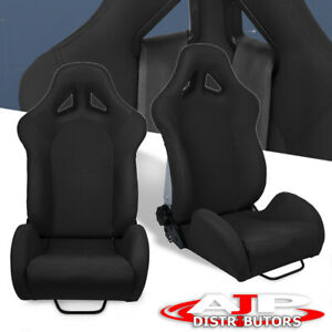 For Ford Light Weight Cushion Sport Racing Reclinable Bucket Seat Slider Rails