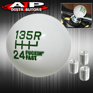 For Audi M8 M10 M12 M T A T Adapter Round Ball Racing Shift Knob Twist On Green
