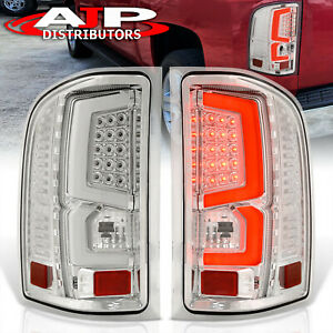 07 13 Silverado 1500 Direct Replacement Led Brake Tail Lights Lamps Pair Chrome