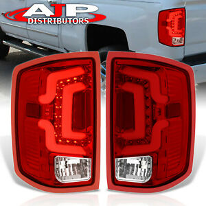 Red Led Neon Tube Tail Lights Replacement Lamps For 14 18 Chevrolet Silverado