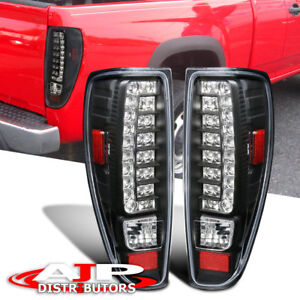 04 12 Chevy Colorado Canyon Black Housing Clear Lens Tail Light Led Replacement