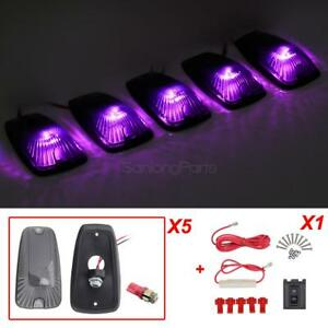For Chevy 11516638 Cab Marker Light Smoke 5050 Smd Pink Purple 194 Led 5pcs Set