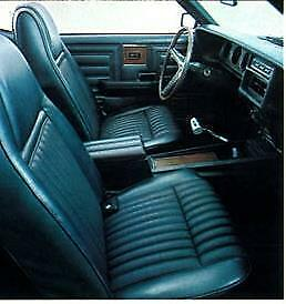 Cougar Decor Black Seat Upholstery For Front Buckets 1970 In Stock