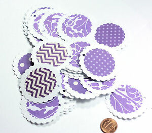50 Handmade Gift Tags In Assorted Purple 2 Inch Retail Tags Wedding Favors