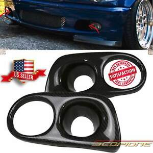 Scopione Glossy Carbon Fog Light Covers For 99 05 Bmw 3 Series M tech Ii E46