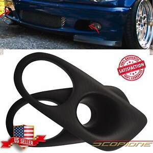 Scopione Matte Carbon Fog Light Covers For 99 05 Bmw 3 Series M tech Ii E46